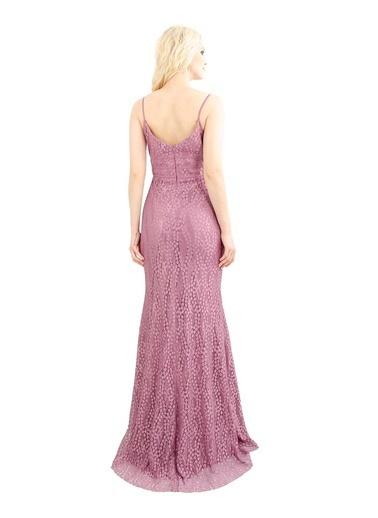 Belamore  Gül Ip Askılı Yırtmaçlı Abiye & Mezuniyet Elbisesi 1301450-10.25 Kırmızı